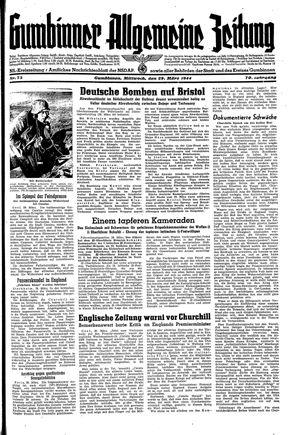 Gumbinner allgemeine Zeitung on Mar 29, 1944