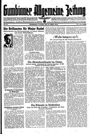 Gumbinner allgemeine Zeitung vom 31.03.1944