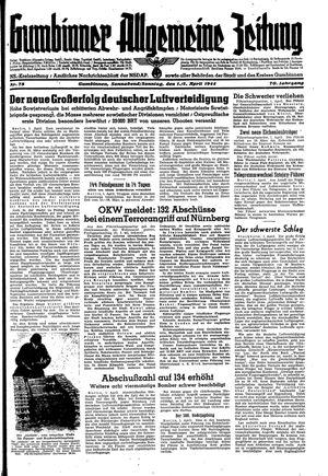 Gumbinner allgemeine Zeitung vom 01.04.1944