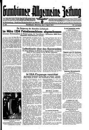 Gumbinner allgemeine Zeitung vom 04.04.1944