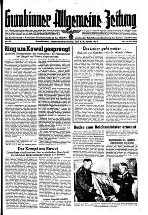 Gumbinner allgemeine Zeitung vom 08.04.1944