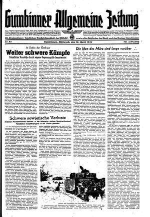 Gumbinner allgemeine Zeitung vom 12.04.1944