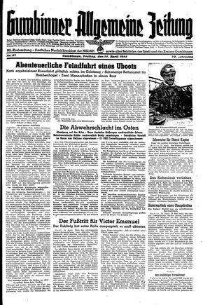 Gumbinner allgemeine Zeitung vom 14.04.1944
