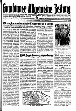 Gumbinner allgemeine Zeitung vom 15.04.1944