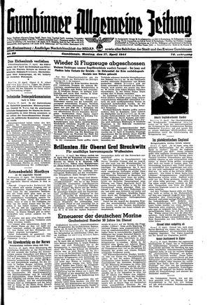 Gumbinner allgemeine Zeitung vom 17.04.1944