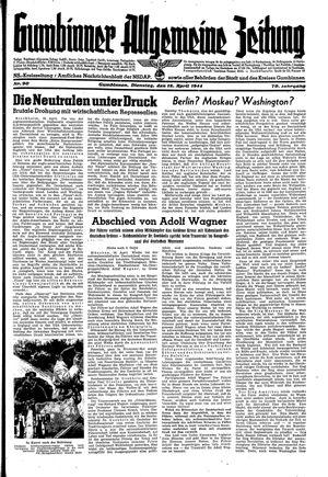 Gumbinner allgemeine Zeitung vom 18.04.1944