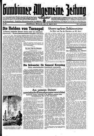 Gumbinner allgemeine Zeitung vom 19.04.1944