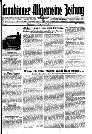 Gumbinner allgemeine Zeitung vom 21.04.1944