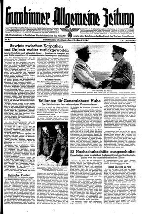 Gumbinner allgemeine Zeitung vom 24.04.1944