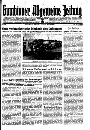 Gumbinner allgemeine Zeitung vom 25.04.1944