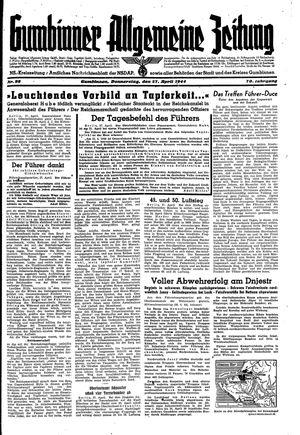 Gumbinner allgemeine Zeitung vom 27.04.1944