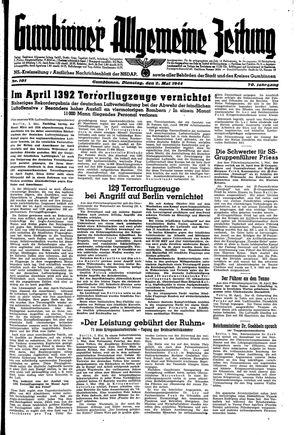 Gumbinner allgemeine Zeitung vom 02.05.1944