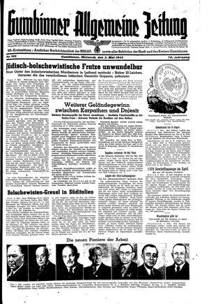 Gumbinner allgemeine Zeitung vom 03.05.1944