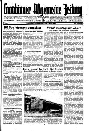 Gumbinner allgemeine Zeitung vom 04.05.1944