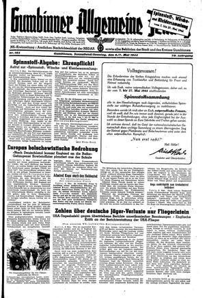 Gumbinner allgemeine Zeitung vom 06.05.1944