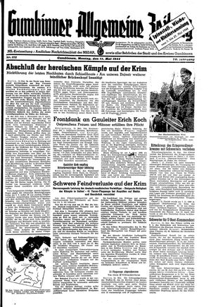 Gumbinner allgemeine Zeitung vom 15.05.1944