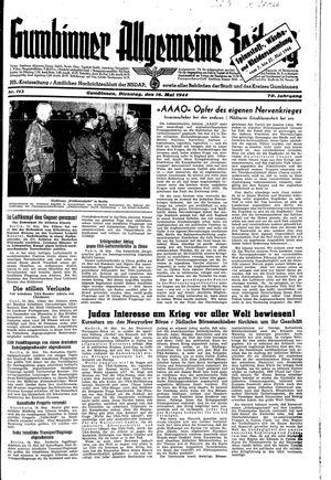 Gumbinner allgemeine Zeitung vom 16.05.1944