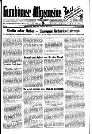 Gumbinner allgemeine Zeitung vom 17.05.1944