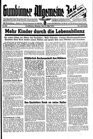 Gumbinner allgemeine Zeitung vom 22.05.1944