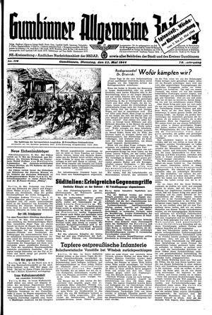 Gumbinner allgemeine Zeitung vom 23.05.1944