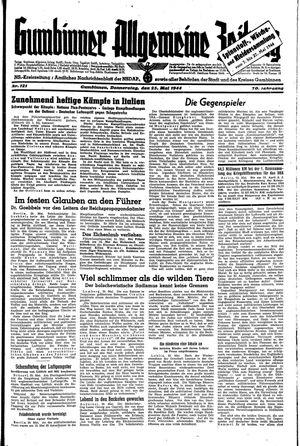 Gumbinner allgemeine Zeitung vom 25.05.1944