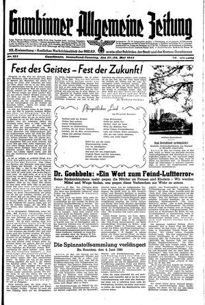 Gumbinner allgemeine Zeitung vom 27.05.1944