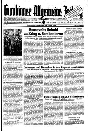 Gumbinner allgemeine Zeitung vom 01.06.1944