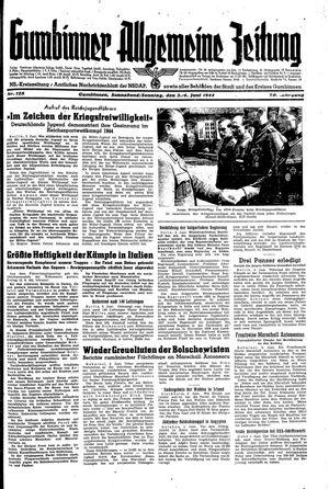 Gumbinner allgemeine Zeitung vom 03.06.1944