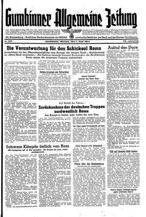 Gumbinner allgemeine Zeitung on Jun 5, 1944