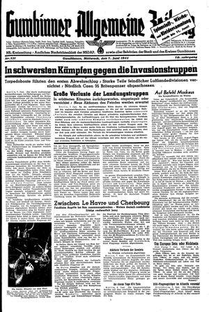 Gumbinner allgemeine Zeitung vom 07.06.1944