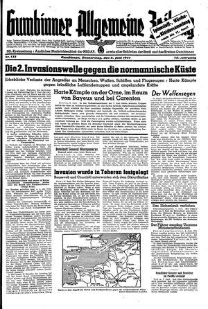 Gumbinner allgemeine Zeitung vom 08.06.1944