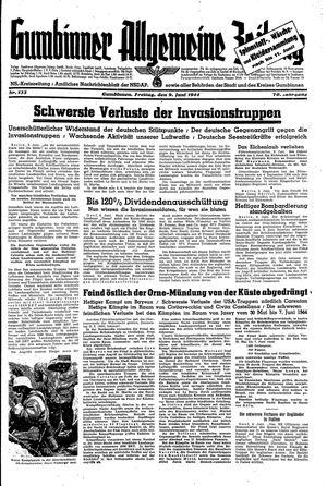Gumbinner allgemeine Zeitung vom 09.06.1944