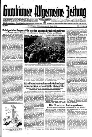 Gumbinner allgemeine Zeitung vom 14.06.1944