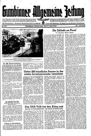 Gumbinner allgemeine Zeitung vom 15.06.1944