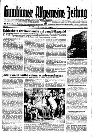 Gumbinner allgemeine Zeitung vom 16.06.1944