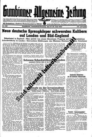 Gumbinner allgemeine Zeitung vom 17.06.1944