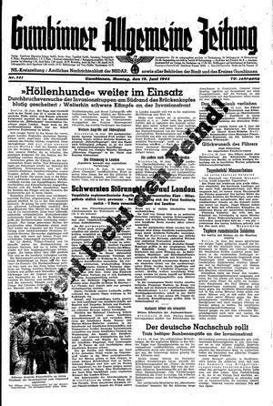 Gumbinner allgemeine Zeitung vom 19.06.1944