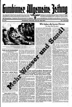 Gumbinner allgemeine Zeitung vom 20.06.1944
