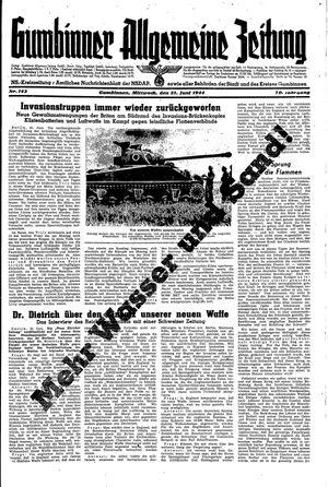 Gumbinner allgemeine Zeitung vom 21.06.1944