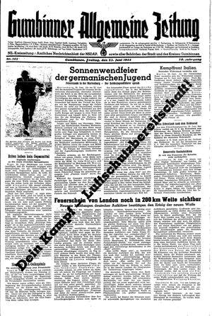 Gumbinner allgemeine Zeitung vom 23.06.1944