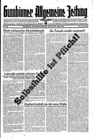 Gumbinner allgemeine Zeitung vom 24.06.1944