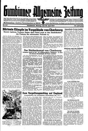 Gumbinner allgemeine Zeitung vom 26.06.1944