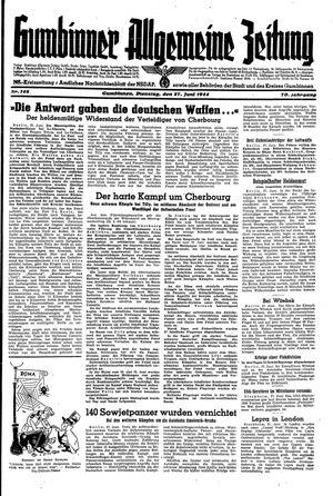 Gumbinner allgemeine Zeitung on Jun 27, 1944