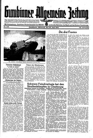 Gumbinner allgemeine Zeitung vom 28.06.1944