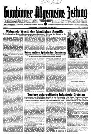 Gumbinner allgemeine Zeitung vom 30.06.1944