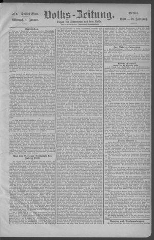 Berliner Volkszeitung vom 01.01.1890