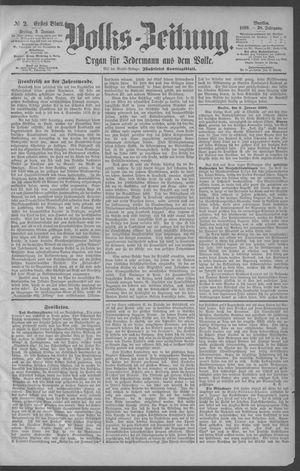 Berliner Volkszeitung vom 03.01.1890