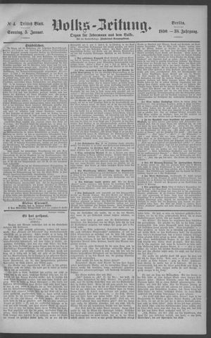 Berliner Volkszeitung vom 05.01.1890