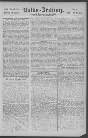 Berliner Volkszeitung vom 12.01.1890