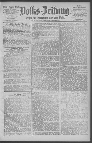 Berliner Volkszeitung vom 14.01.1890
